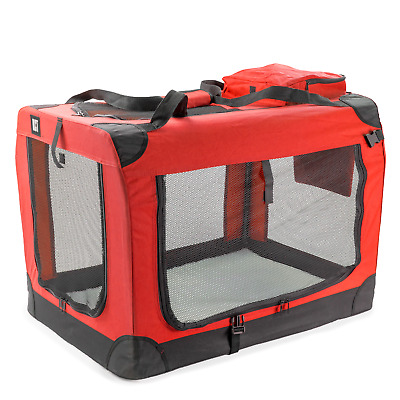 £45.95 • Buy Kct Extra Large Red Fabric Pet Carrier Portable Foldable Cat Travel Dog Crate