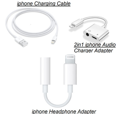 £3.49 • Buy For IPhone IOS 7 8 X 11 12 3.5mm Headphone Jack Audio AUX Splitter Adapter Cable