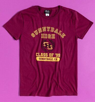 £19.99 • Buy Official Burgundy Buffy The Vampire Slayer Sunnydale High Class Of 99 T-Shirt