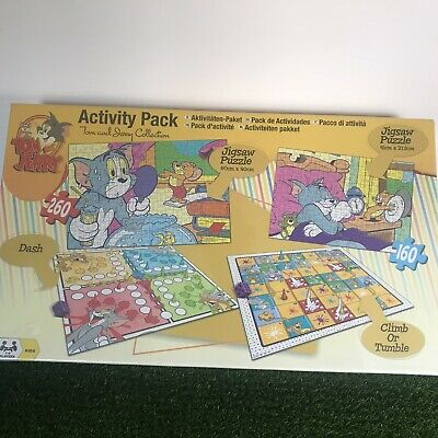 £15.99 • Buy Tom & Jerry Activity Pack Jigsaws X 2, Climb Or Tumble & Dash Games New Sealed