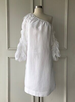 AU65 • Buy | COUNTRY ROAD | Ruched Sleeve Dress White | NEW | $159 | SIZE: 8,10,12,14,16 |