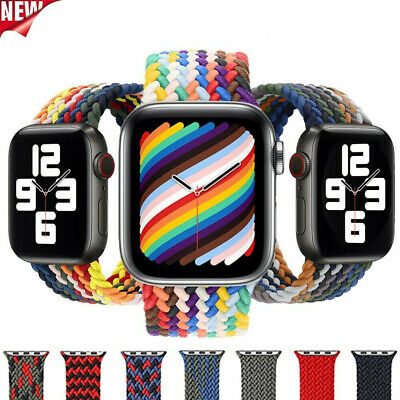 AU6.99 • Buy Apple Watch Braided Nylon Sport Band Strap For 38/40/42/44mm Series 6 5 4 3 SE