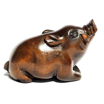 £21.99 • Buy M6815 - Collectible 20 Years Old Hand Carved Boxwood Netsuke : Boar Pig