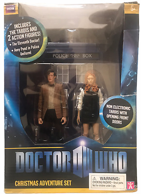 £94.06 • Buy Dr Who Christmas Adventure Action Figure Set:TARDIS,11th,Cop Amy Pond New W Wear