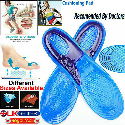 £3.75 • Buy Work Boots Gel Insoles Shoe Inserts Orthotic Arch Support Pads Massaging Feet