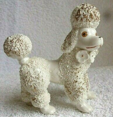 £10 • Buy 1950 S Ornament. Poodle. Slightly Worried Expression. French Cut. Gold Accents