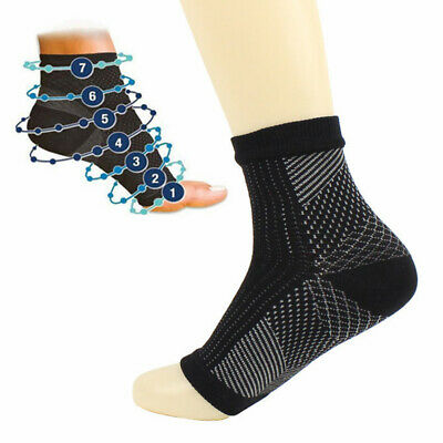 £2.49 • Buy Men Women Anti Fatigue Foot Ankle Protection Sleeve Cycling Stretch Stripe Socks