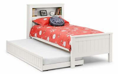 £349.99 • Buy Maine Bookcase Bed Frame And Underbed Option 3ft Single White Lacquered Finish