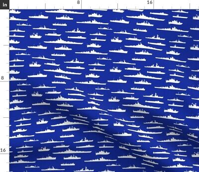 £20.89 • Buy Us Navy Coast Guard Wwii Thin Line Textiles Fabric Printed By Spoonflower BTY
