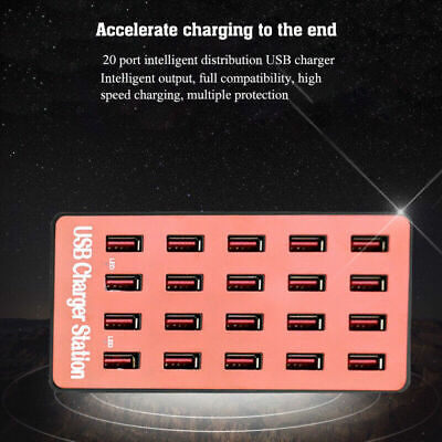 AU35.59 • Buy 20-Port USB Hub Charger Power Adapter Wall Fast Charging Dock Station