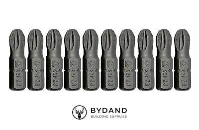 £3.29 • Buy PZ3 PoziDriv Impact Driver Screwdriver Bits (25mm) - 10 Pack - ISO CERTIFIED