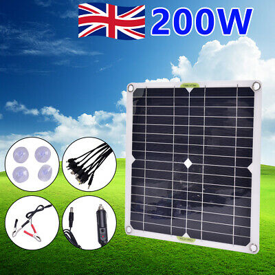 £23.89 • Buy 12V Flexible Solar Panel Kit USB Battery Charger Outdoor Camping Motorhome