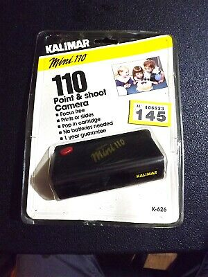 £4.95 • Buy Vintage Kalimar Mini 110 Point And Shoot CAMERA - NEW Sealed Old Stock 1980s
