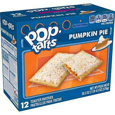 £10.88 • Buy NEW Pop Tarts Toaster Pastries Pumpkin Pie Flavor 12 Count FREE WORLD SHIPPING