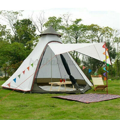 £148 • Buy UK Large Waterproof Double Layer Family Indian Style Teepee Camping Tent Outdoor
