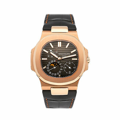 £79682.57 • Buy Patek Philippe Nautilus Date Moon Phases Auto Rose Gold Mens Watch 5712R-001