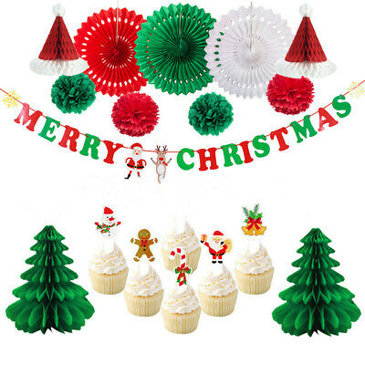 £13.79 • Buy Merry Christmas Felt Banner Party Decorations New Year's Eve Xmas Party Decor