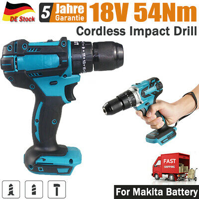£35.40 • Buy TEETOK 18V Cordless Impact Hammer Drill Body Only For Makita Replacement 3 In 1