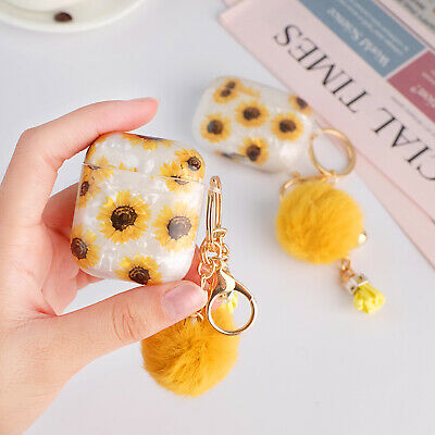 AU9.99 • Buy Cute Sunflower Patterned Earphone Case Cover With Pendant For AirPods 1/2/Pro