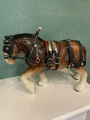 £19 • Buy Beautiful Large Shire Horse Figurine In Full Harness