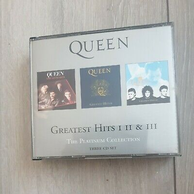 £9.29 • Buy Queen : Greatest Hits 1 2 & 3 The Platinum Collection 3-disc CD Box Set