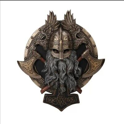 £14.62 • Buy Durable Vintage Axe Statue Wall Decorative Plaque Resin Ornament Home Decor Gift