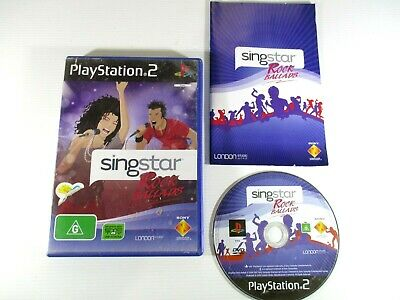 £9.51 • Buy PS2 Game Singstar Rock Ballads G PAL Sony 2007 Complete With Manual Tested