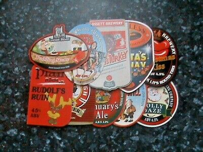 £9.99 • Buy Various Beer Pump Clip Signs 10X Different Christmas S'ale Lot C