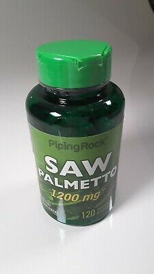AU34 • Buy Saw Palmetto  1200mg   120 Capsules Serenoa Extract Berry Prostrate -PIPING ROCK