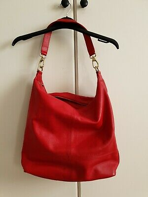 £40 • Buy M&s Collection Autograph Highly Desirable Slouch Hobo Red Leather Bag