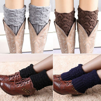 £3.99 • Buy Women Lady Leg Warm Winter Crochet Knitted Ankle Socks Boot Cuffs Thick Stocking