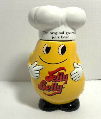 £36.37 • Buy Mr. Jelly Belly Collectible Ceramic Container - Yellow Chef Bean Jar - Very Rare