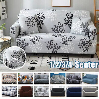 AU18.99 • Buy 1/2/3/4 Seater Sofa Covers High Stretch Lounge Slipcover Protector Couch Cover
