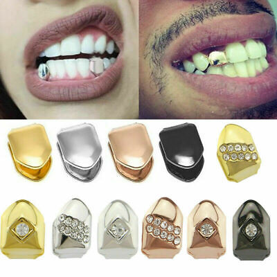 £2.29 • Buy 1 Pcs Glossy Hip Hop Braces 14k Gold Plated Small Tooth Cap Hip Hop Teeth Grill