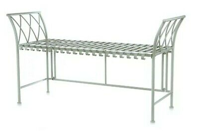£60 • Buy Wrought Iron Bench In Sage Green - New -  By Alison Cork (£100 In Qvc Sale)
