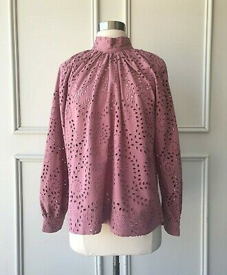AU55 • Buy | COUNTRY ROAD | Tonal Broderie Top Dusty Rose | NEW | $159 | SIZE: 6,8,14,16 |