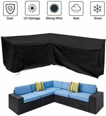 AU19.99 • Buy Waterproof Couch Sofa L Shape Lounge Covers Outdoor Rattan Sofa Cover Slipcover