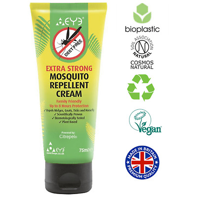 £7.99 • Buy THEYE Extra Strong Natural Insect Repellent /Mosquito Repellent/Midge Cream 75ml
