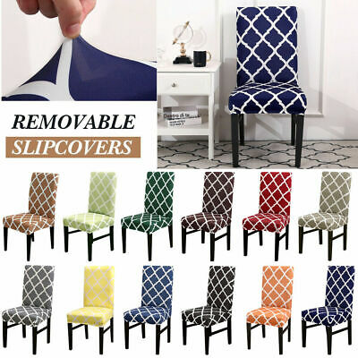 AU20.99 • Buy 1-6x Dining Chair Covers Kitchen Home Seat Cover Stretch Removable Slipcover AU