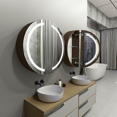 £640 • Buy Round LED Cabinet With Mirrors DIANA For Bathroom   80cm