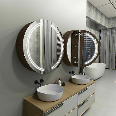 £640 • Buy Round LED Cabinet With Mirrors FORTUNA For Bathroom   80cm