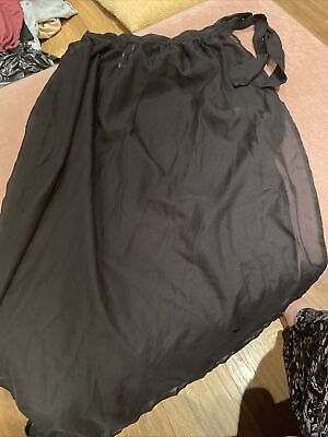 £1 • Buy Atmosphere Black Mesh Sarong With Tie At The Side Size M