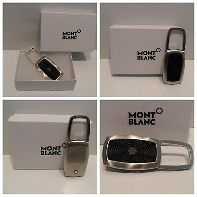£91.10 • Buy Montblanc Keyring Stainless Steel & Black Rubber Star Inlay EXCELLENT CONDITION!