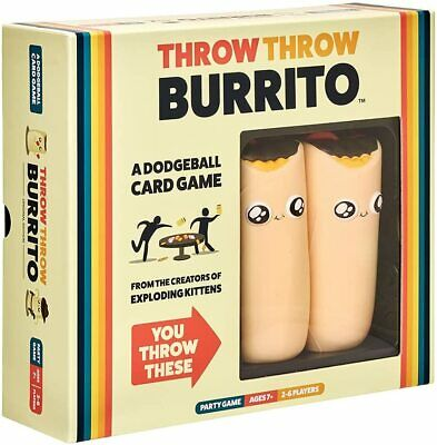 AU49.98 • Buy Throw Throw Burrito By Exploding Kittens - A Dodgeball Card Game - Family Card G
