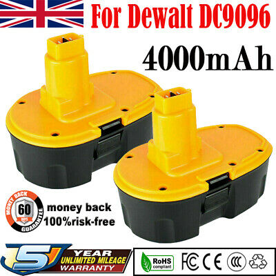 £33.99 • Buy 2x 4.0AH 18V Ni-MH Battery Replace For Dewalt DCA1820 DC9096 DCB184 DW9096 Drill