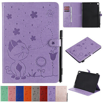 AU16.99 • Buy For IPad Pro 12.9 11 10.5 IPad 8 9 7 Tablet Cat Pattern Leather Stand Case Cover