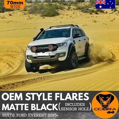 AU329 • Buy OEM Fender Flares For Ford Everest 2015 To 2020 With Adhesive Tape Matte Black