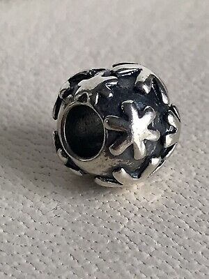 £25 • Buy Authentic Trollbeads Sterling Silver Snow Bead 11248 RETIRED