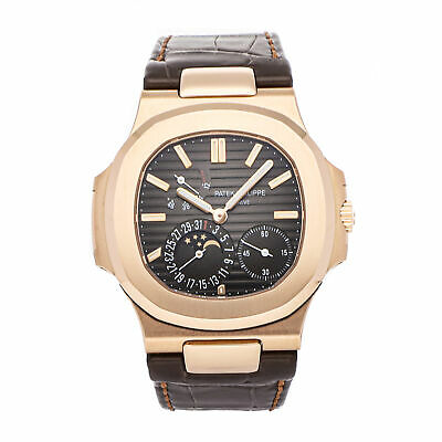 £72435.41 • Buy Patek Philippe Nautilus Moon Phases Auto Rose Gold Mens Strap Watch 5712R-001