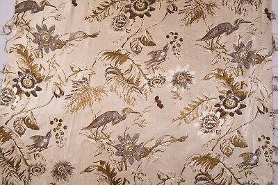 £1.49 • Buy Bird Embroidery Flowery Design Cream Fabric By Madison-58'' Upholstery 089